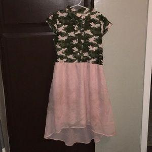 Pink camo polo dress